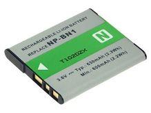 Baterie Sony NP-BN1, 3,6V, 650mAh, 2,4Wh