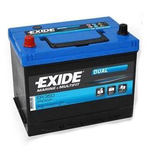 Trakční baterie EXIDE DUAL, 12V, 80Ah, 510A ER350