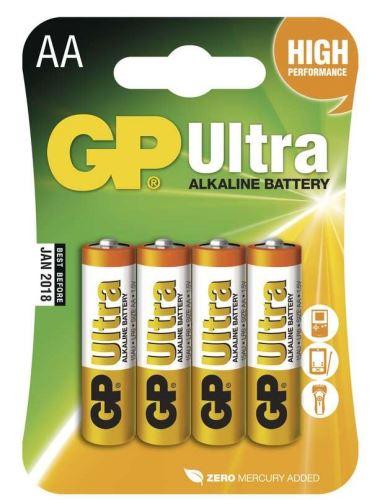Baterie GP 15AU Ultra Alkaline, R6, AA, (Blistr 4ks)