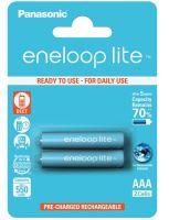 Baterie Panasonic Eneloop lite BK-4LCCE/2BE, AAA, 550mAh, (blistr 2ks)