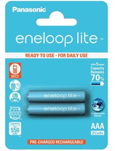 Baterie Panasonic Eneloop lite BK-4LCCE, AAA, 550mAh, (blistr 2ks)