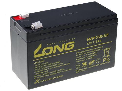 Baterie Long 12V, 7,2Ah olověný akumulátor F2