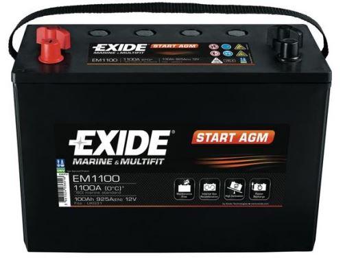 Autobaterie EXIDE START AGM, 12V, 100Ah, EM1100