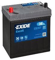Autobaterie EXIDE Excell 12V, 35Ah, 240A, EB357 - Levá