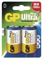 Baterie GP 13AUP Ultra Plus Alkaline, R20, D, (Blistr 2ks)