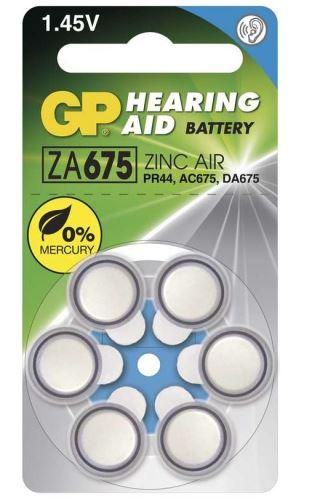 Baterie GP ZA675, PR44, AC675, DA675 do naslouchadel (Blistr 6ks)