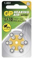 Baterie GP ZA10, PR70 ,AC10 do naslouchadel (Blistr 6ks) - výprodej expirace (14,15,16,18)