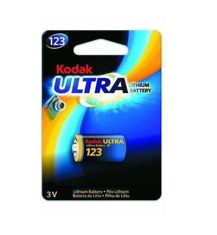 Baterie Kodak CR123A, Lithium, fotobaterie, (Blistr 1ks)