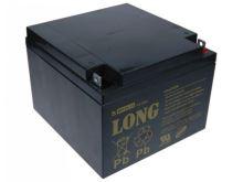 Baterie Long 12V, 26Ah olověný akumulátor F3