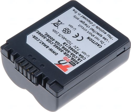 Baterie Panasonic CGA-S006, 7,2V (7,4V), 710mAh, 5,1Wh