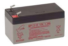 Záložní akumulátor (baterie) Genesis NP 1,2 -12, 1,2Ah, 12V, Faston 187, F1, úzký