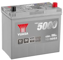 Autobaterie Yuasa Silver High Performance 50Ah, 12V, 450A (YBX5053) - Japan Pravá