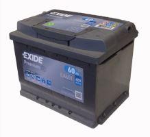 Autobaterie EXIDE Premium, Carbon Boost, 12V, 60Ah, 600A, EA601 - Levá