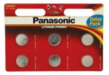 Baterie Panasonic CR2025, Lithium, 3V, (Blistr 6ks)