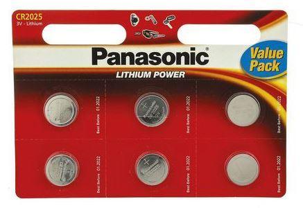Baterie Panasonic CR2025, Lithium, 3V, (Blistr 6ks)