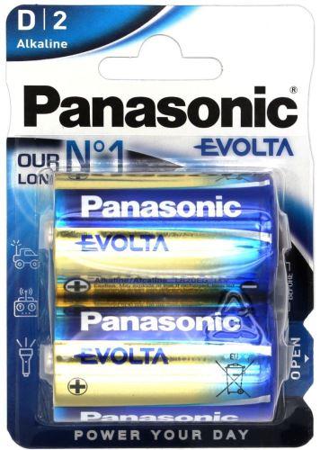 Baterie Panasonic Evolta Alkaline, LR20, D, (Blistr 2ks)