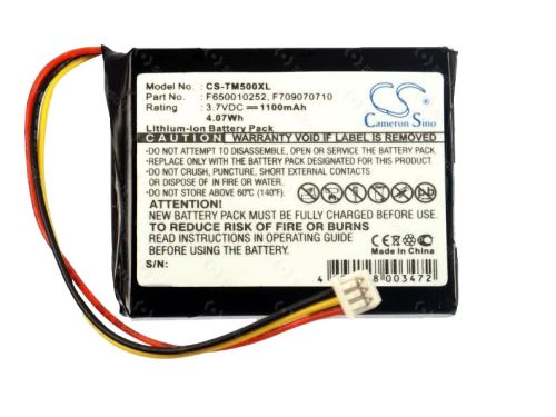 Baterie CS-TM500XL náhradní pro navigace TomTom One NEW, 1100mAh, Li-ion, (Blistr 1ks)