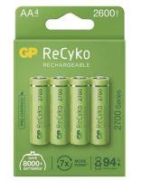 Baterie GP ReCyko+ 2700mAh, HR6, AA, Ni-Mh, nabíjecí, 1032224270, (Blitr 4ks)