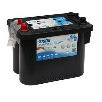 Autobaterie EXIDE START AGM, 12V, 50Ah, 800A, EM1000
