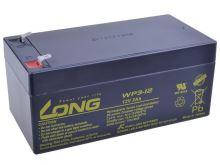 Baterie Long 12V, 3Ah olověný akumulátor F1