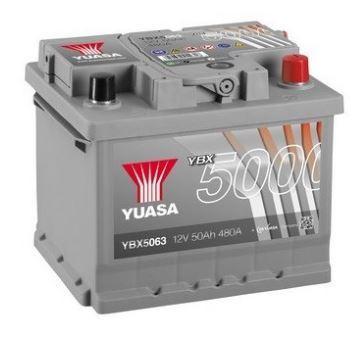 Autobaterie Yuasa Silver High Performance 50Ah, 12V, 480A (YBX5063)