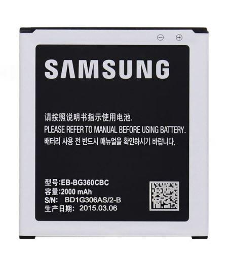 Baterie Samsung EB-BG360CBC, EB-BG360BBE, 2000mAh, pro G360 Galaxy, (originál)