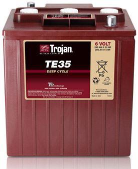 Trakční baterie Trojan TE 35 (3 / 9 Gis 196 DIN) , 245Ah, 6V - průmyslová profi