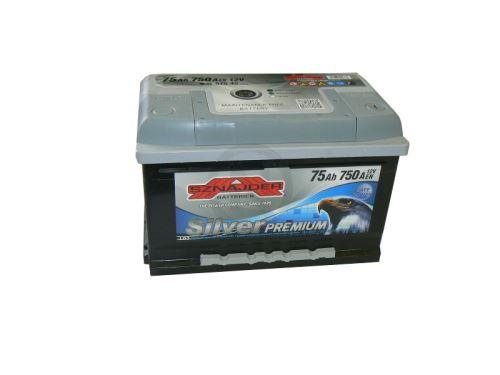 Autobaterie Sznajder Silver Premium 75Ah, 12V, startovací proud 750A, 57545