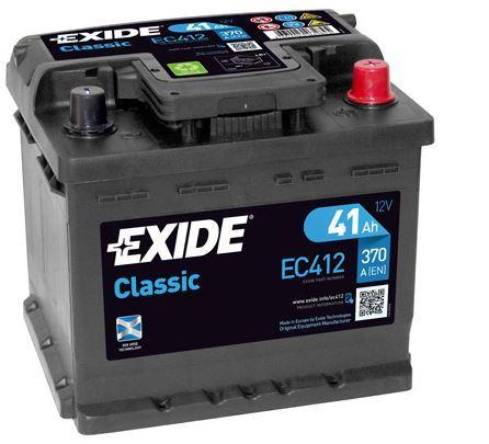 Autobaterie EXIDE Classic, 12V, 41Ah, 370A, EC412