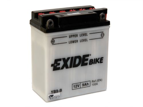 Motobaterie EXIDE BIKE Conventional 9Ah, 12V, YB9-B