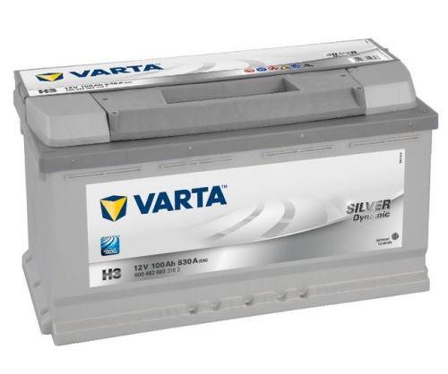 Autobaterie VARTA Silver Dynamic 100Ah, 12V, 830A, (H3)