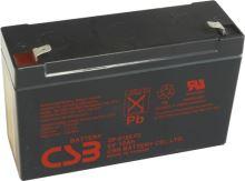 Akumulátor (baterie) CSB GP6120 F2, 6V, 12Ah, Faston 250, široký
