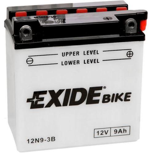 Motobaterie EXIDE BIKE Conventional 9Ah, 12V, 90A, 12N9-3B/YB9L-B
