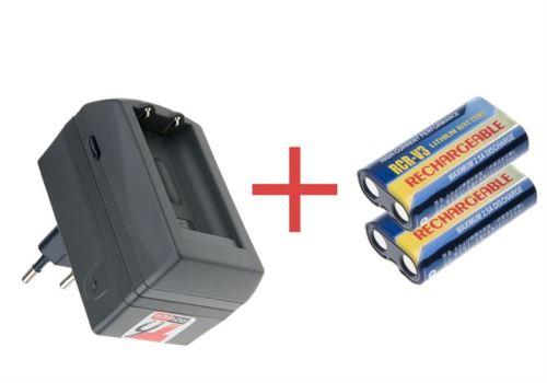 2x Nabíjecí baterie CRV3, CR-V3, Li-Fe, 3V,1100mAh + Nabíječka pro CRV3