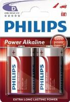 Baterie Philips LR20, D, Power Alkaline, (Blistr 2ks)