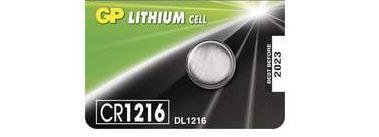 Baterie GP CR1216, Lithium, 3V, (Blistr 1ks)