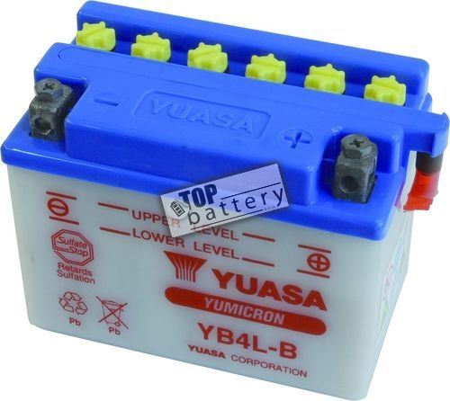 Motobaterie Yuasa YB4L-B, 12V, 4Ah