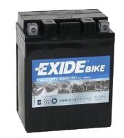 Motobaterie EXIDE BIKE Factory Sealed 12Ah, 12V, 200A, AGM12-14 (YTX14AHL-BS)