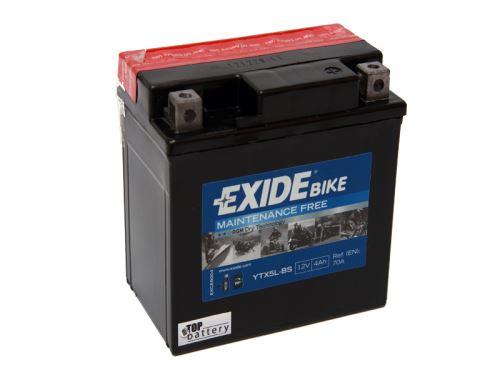 Motobaterie EXIDE BIKE Maintenance Free 4Ah, 12V, 30A, YTX5L-BS