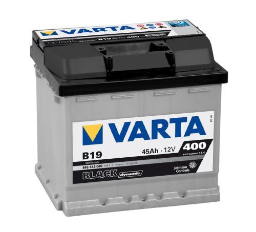 Autobaterie VARTA BLACK Dynamic 45Ah, 12V (B19)