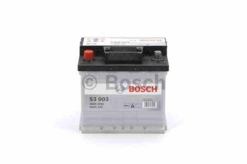 Autobaterie BOSCH Black S3 003, 45Ah, 12V, 400A, 0 092 S30 030