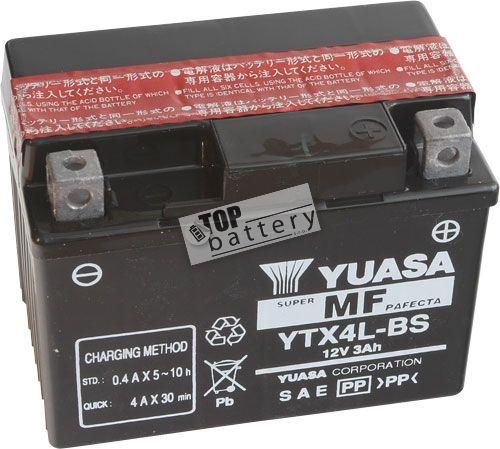 Motobaterie YUASA YTX4L-BS, 12V, 3Ah