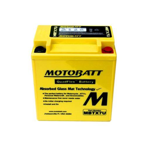 Motobaterie Motobatt MBTX7U, 12V, 8Ah, 115A (YTX7L-BS)
