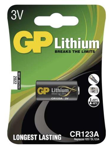 Baterie GP CR123A, Lithium, fotobaterie, (Blistr 1ks) 1022000111