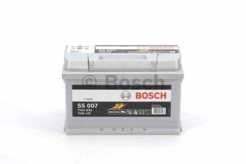 Autobaterie BOSCH Silver S5 007, 74Ah, 12V, 750A, 0 092 S50 070