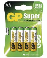 Baterie GP Super Alkaline, 15A, LR6, AA, (Blistr 4ks)
