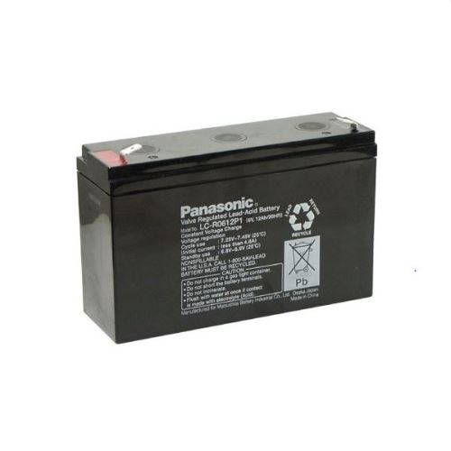 Akumulátor (baterie) PANASONIC LC-R0612P1, 12Ah, 6V