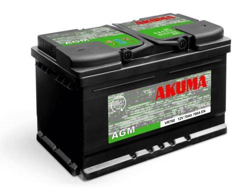 Autobaterie Akuma AGM (Start-Stop) 12V, 90Ah, 900A, 7905522