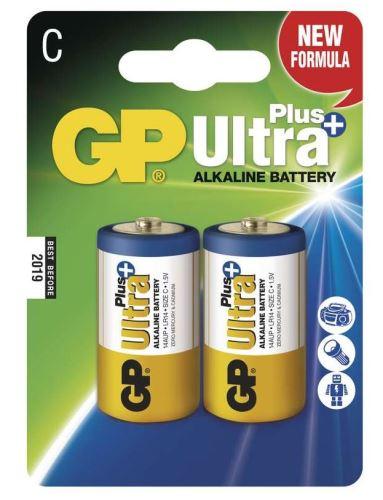 Baterie GP 14AUP Ultra Plus Alkaline, R14, C, (Blistr 2ks)