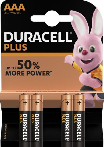 Baterie Duracell Plus Power MN2400, AAA, (Blistr 4ks)